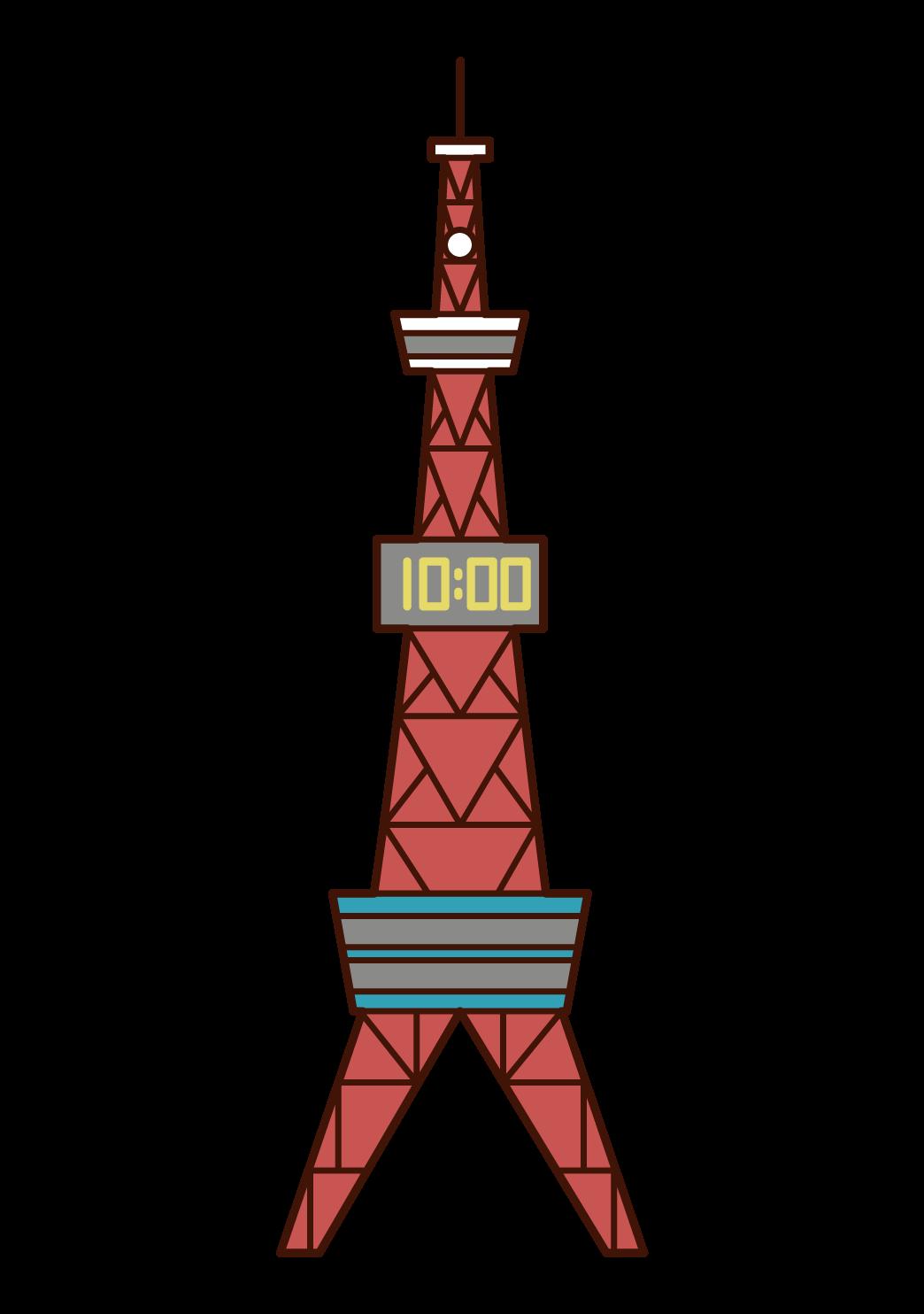 삿포로 TV 타워의 일러스트