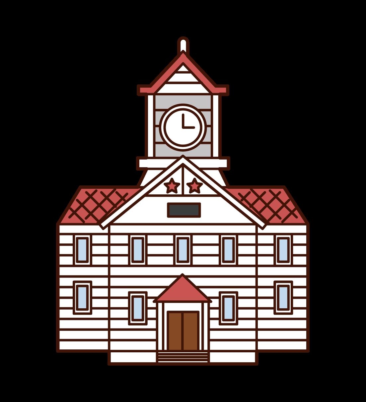 札幌鐘樓插圖