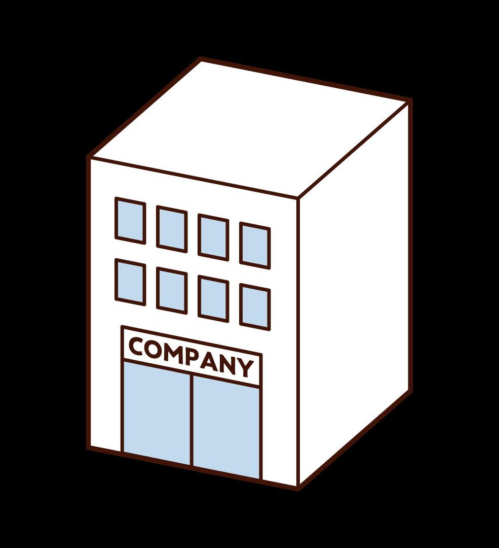 회사의 일러스트