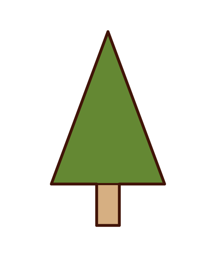 Illustration of a triangular tree