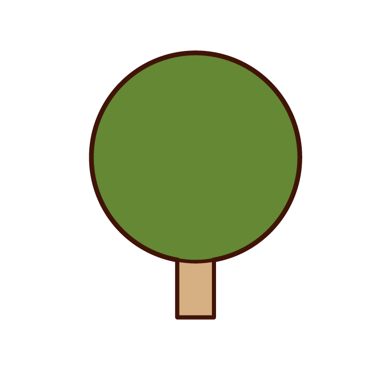 Illustration of a round tree