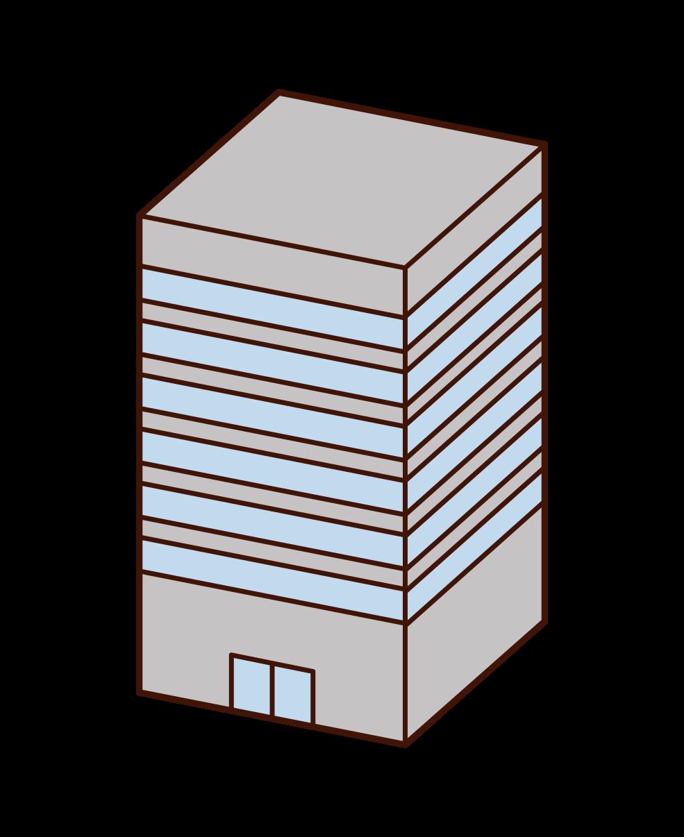 高層ビルのイラスト