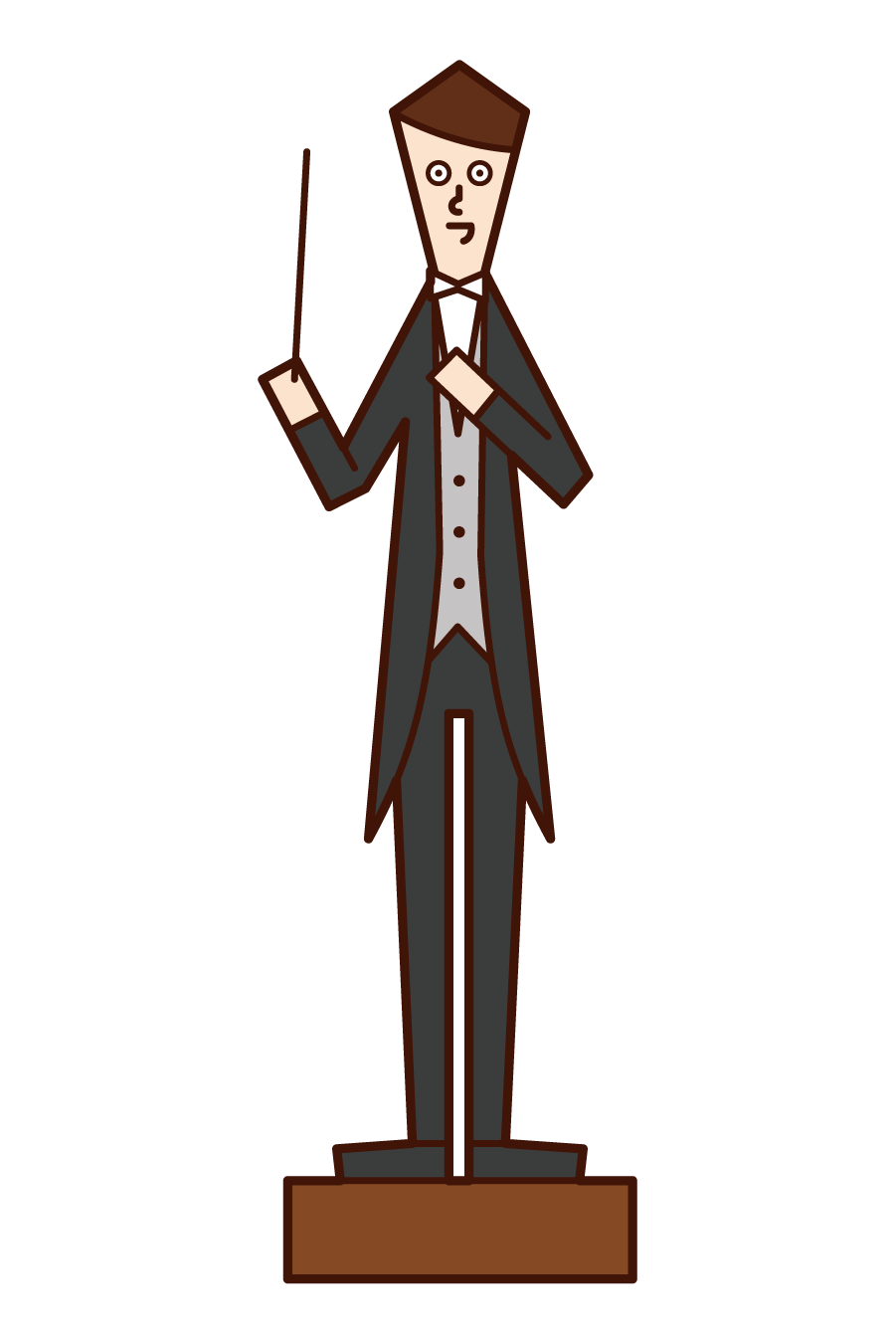 Illustration of a conductor (male)