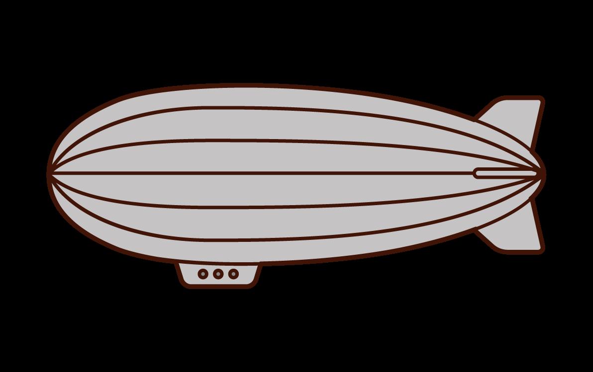 Illustration of an airship