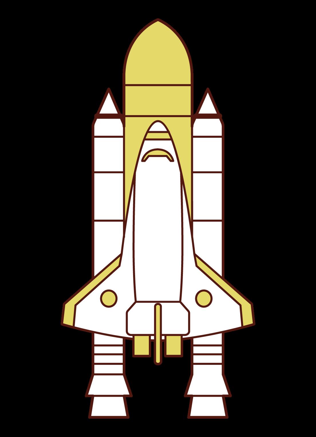 スペースシャトルのイラスト
