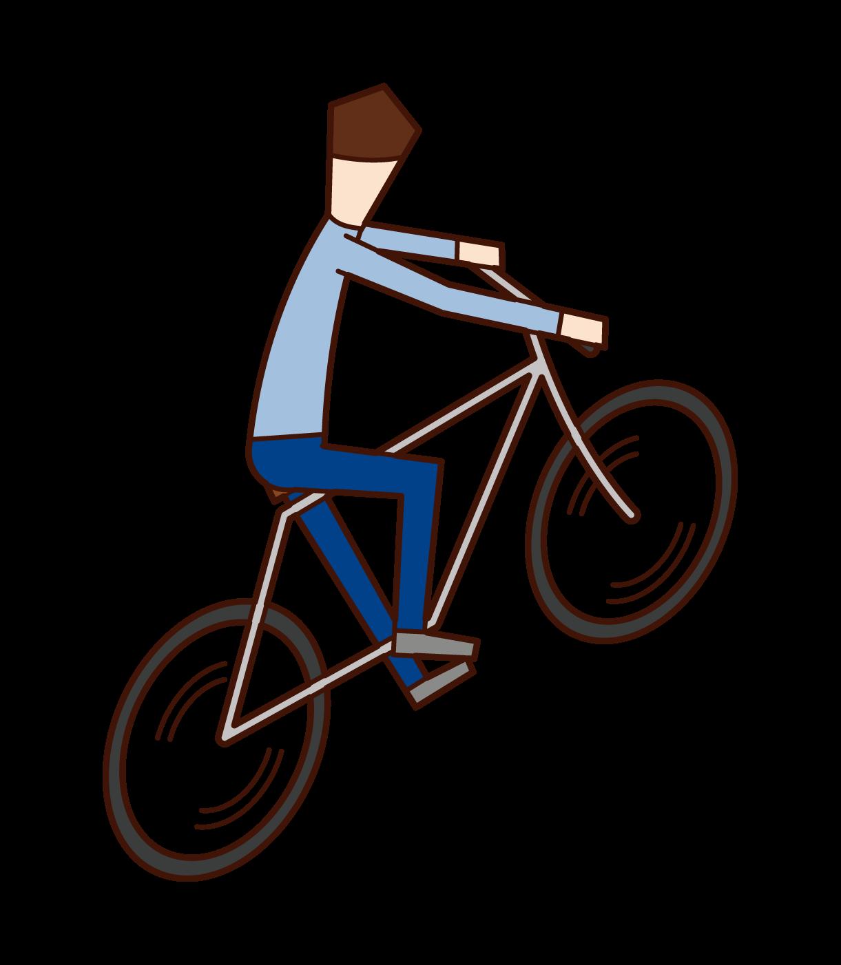 自転車乗り(男性)のイラスト