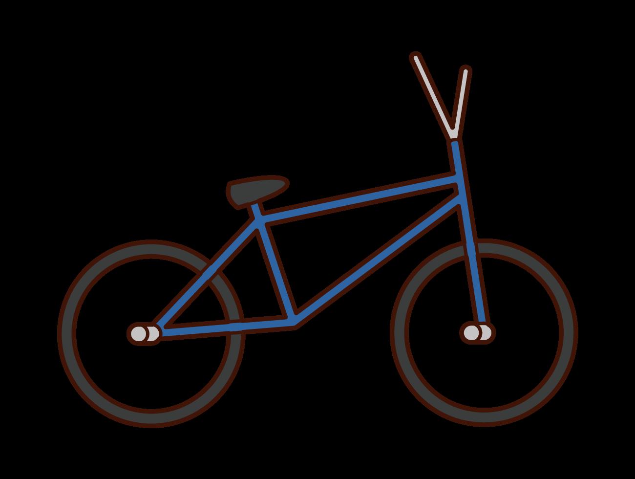 BMXのイラスト