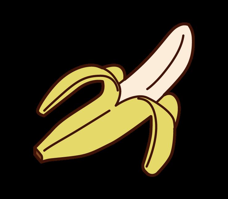 剝香蕉的插圖