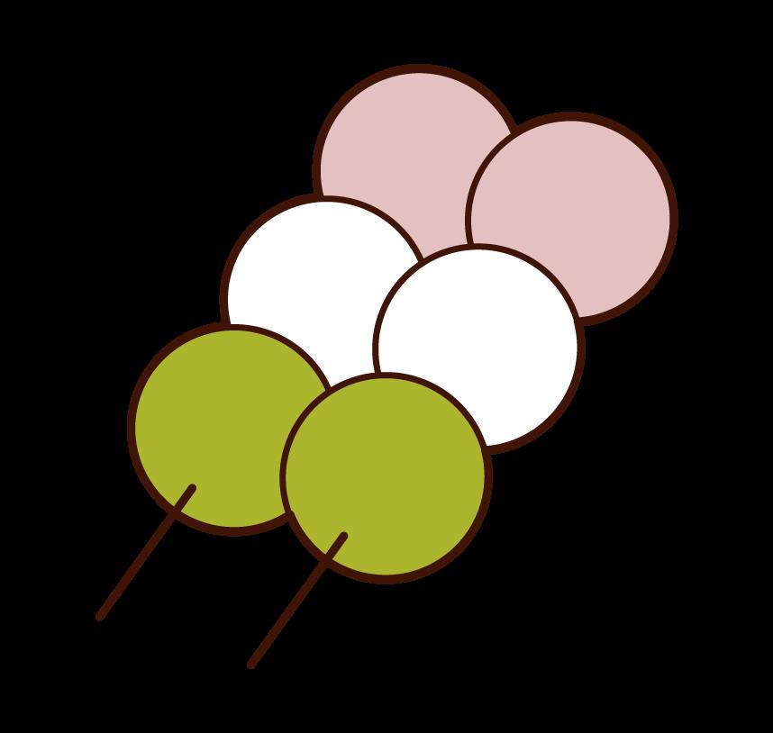 三色団子のイラスト