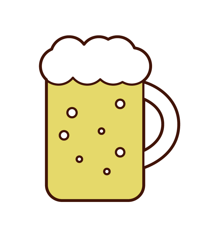 壺裝啤酒的插圖