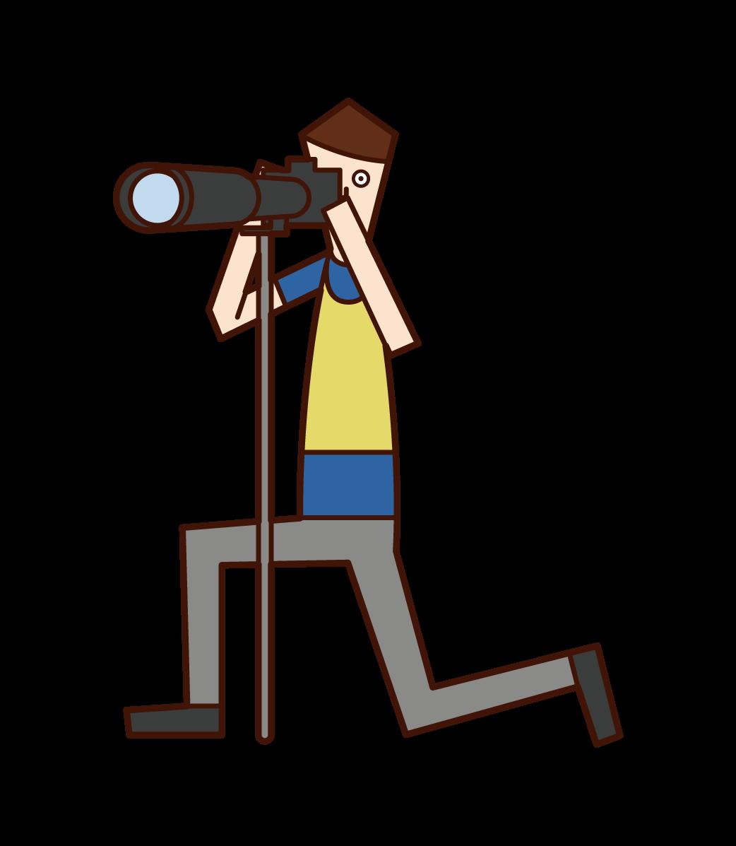 Sports Photographer (man) Illustration