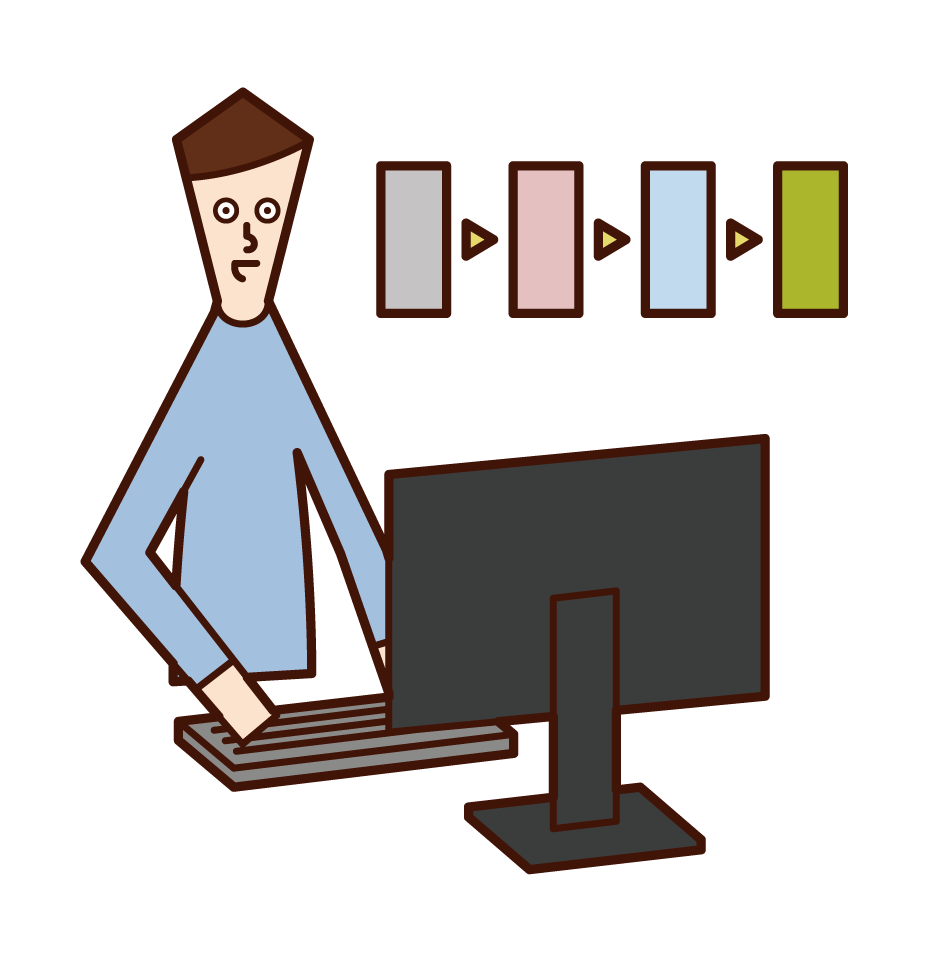 Illustration of a test engineer (man)