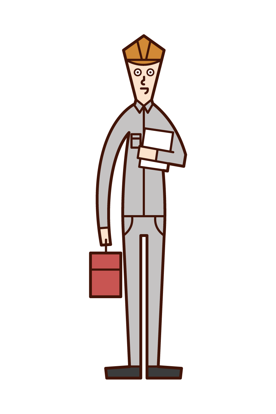 Illustration of a service engineer (man)