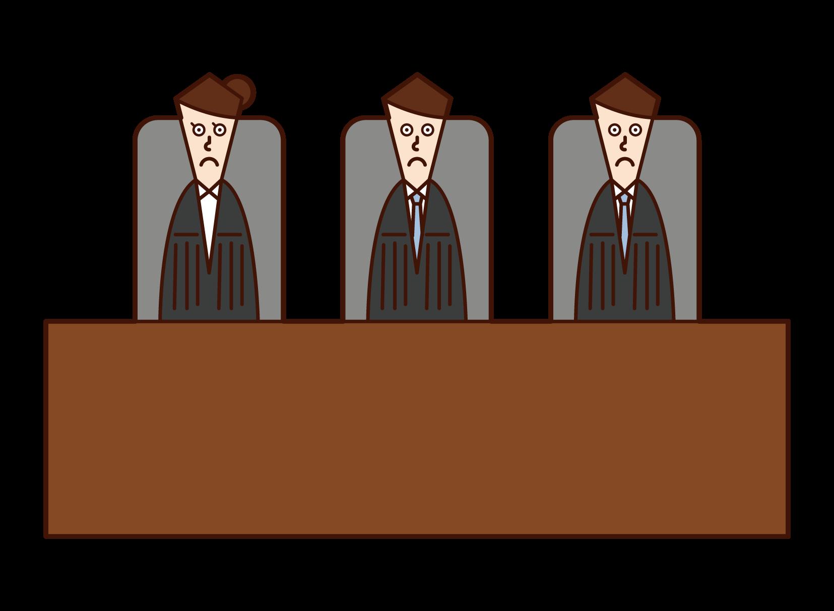 裁判官のイラスト