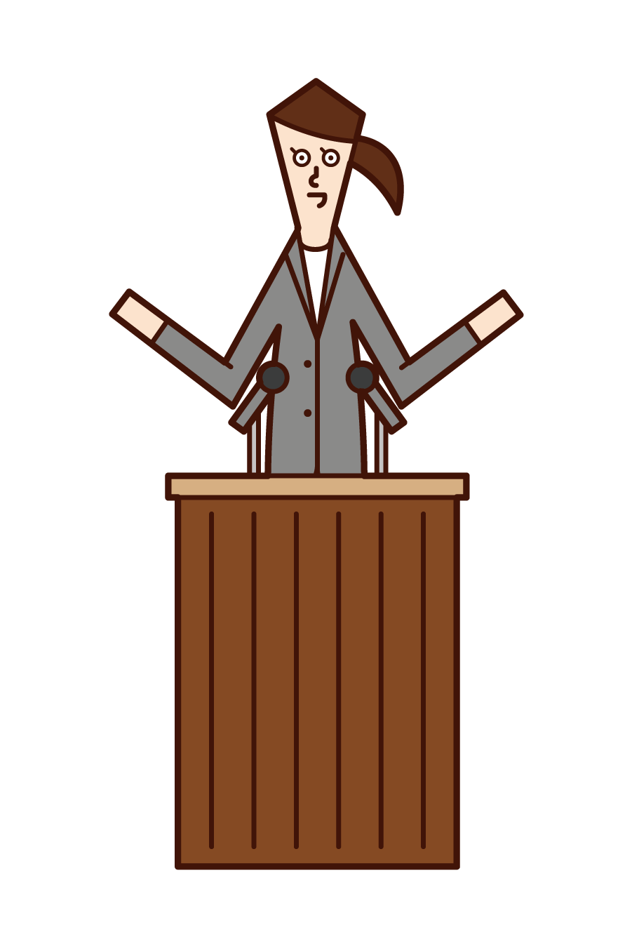 Illustration of a politician and city councillor (woman)