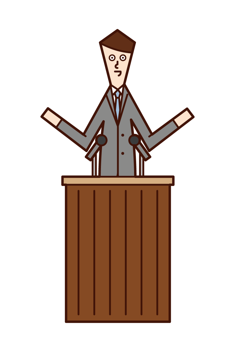 Illustration of a politician and city councillor (man)