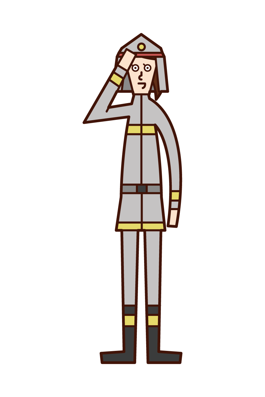 Illustration of a firefighter (woman)