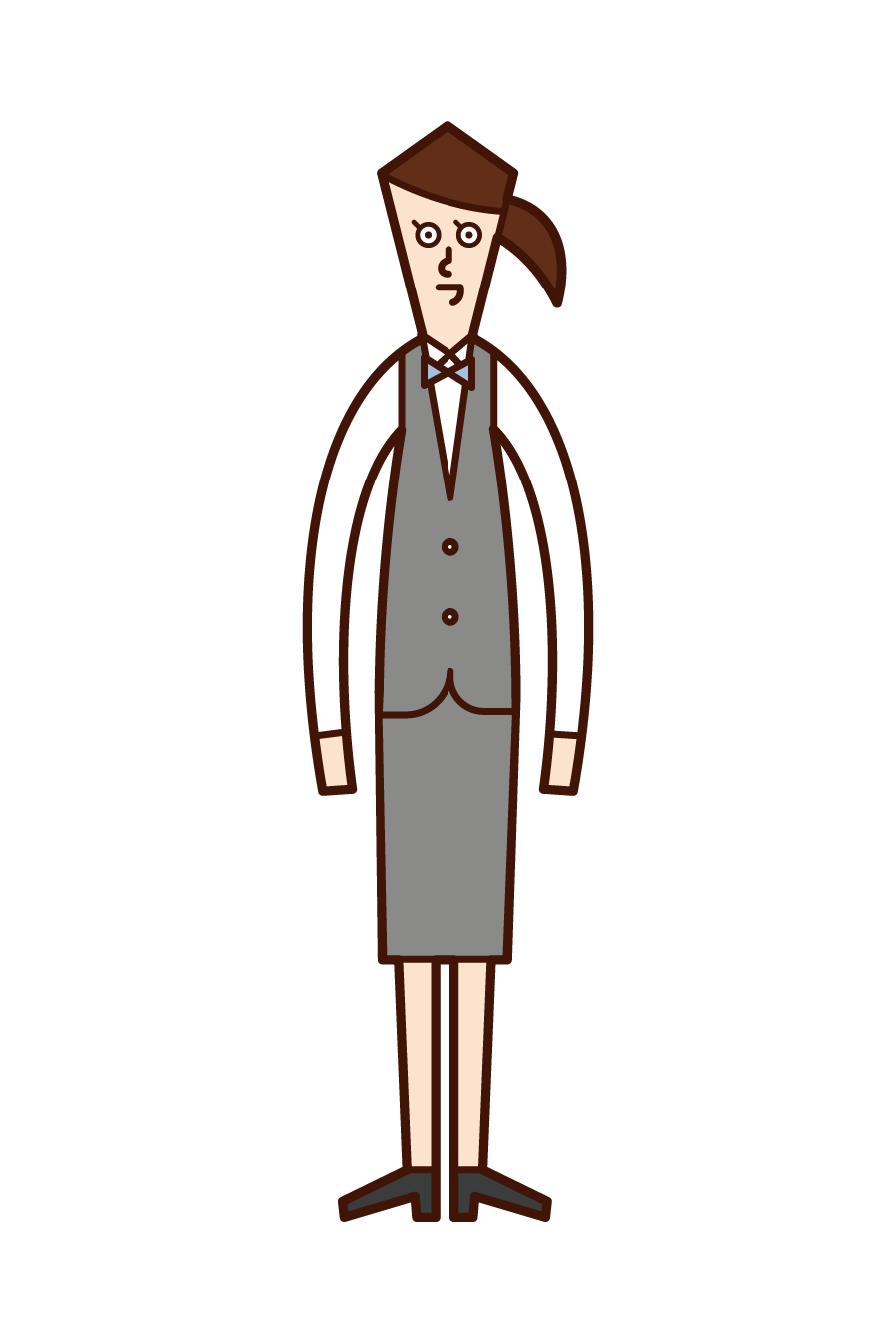 Illustration of a woman wearing a vest