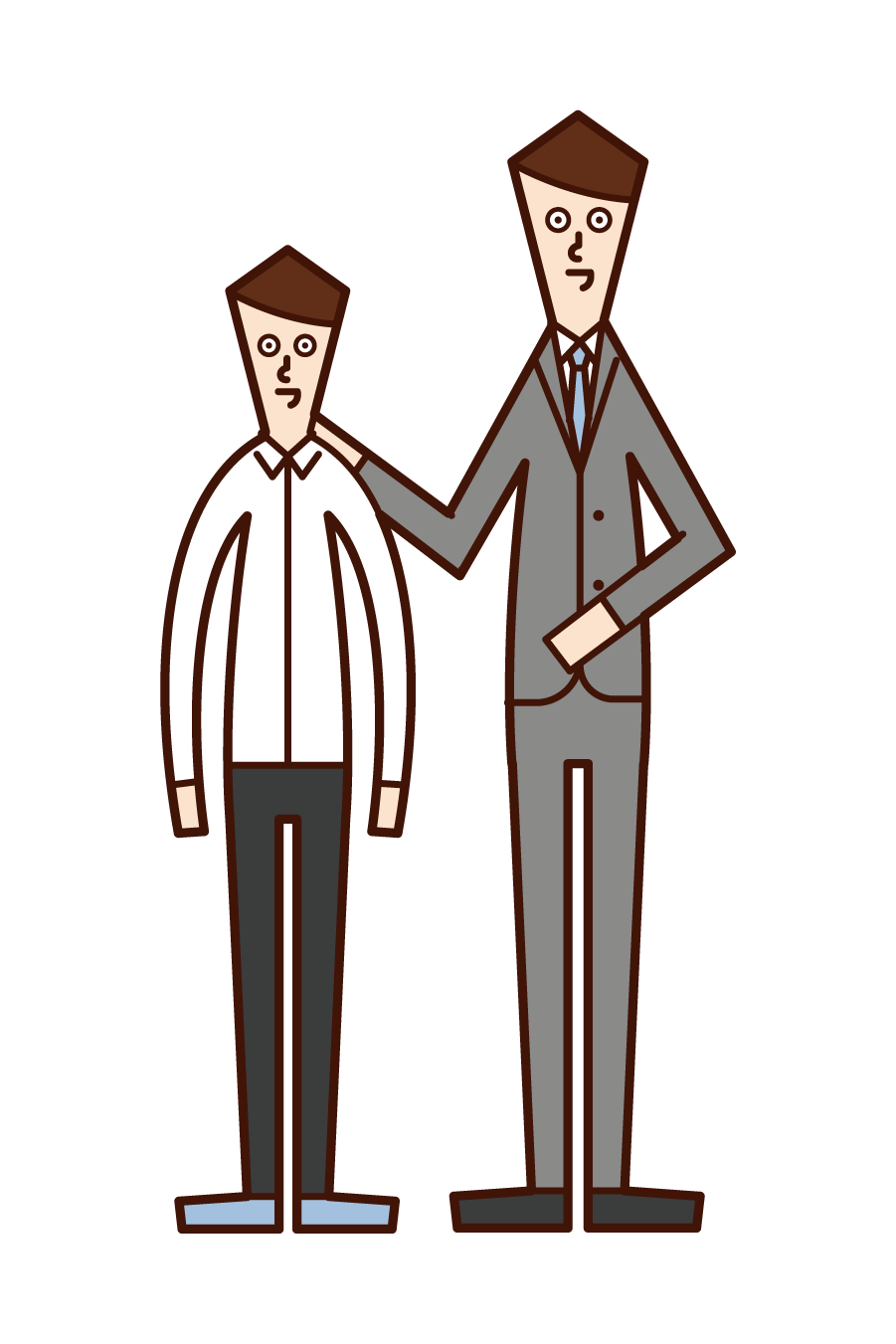 Illustration of a teacher and legal instructor (man)