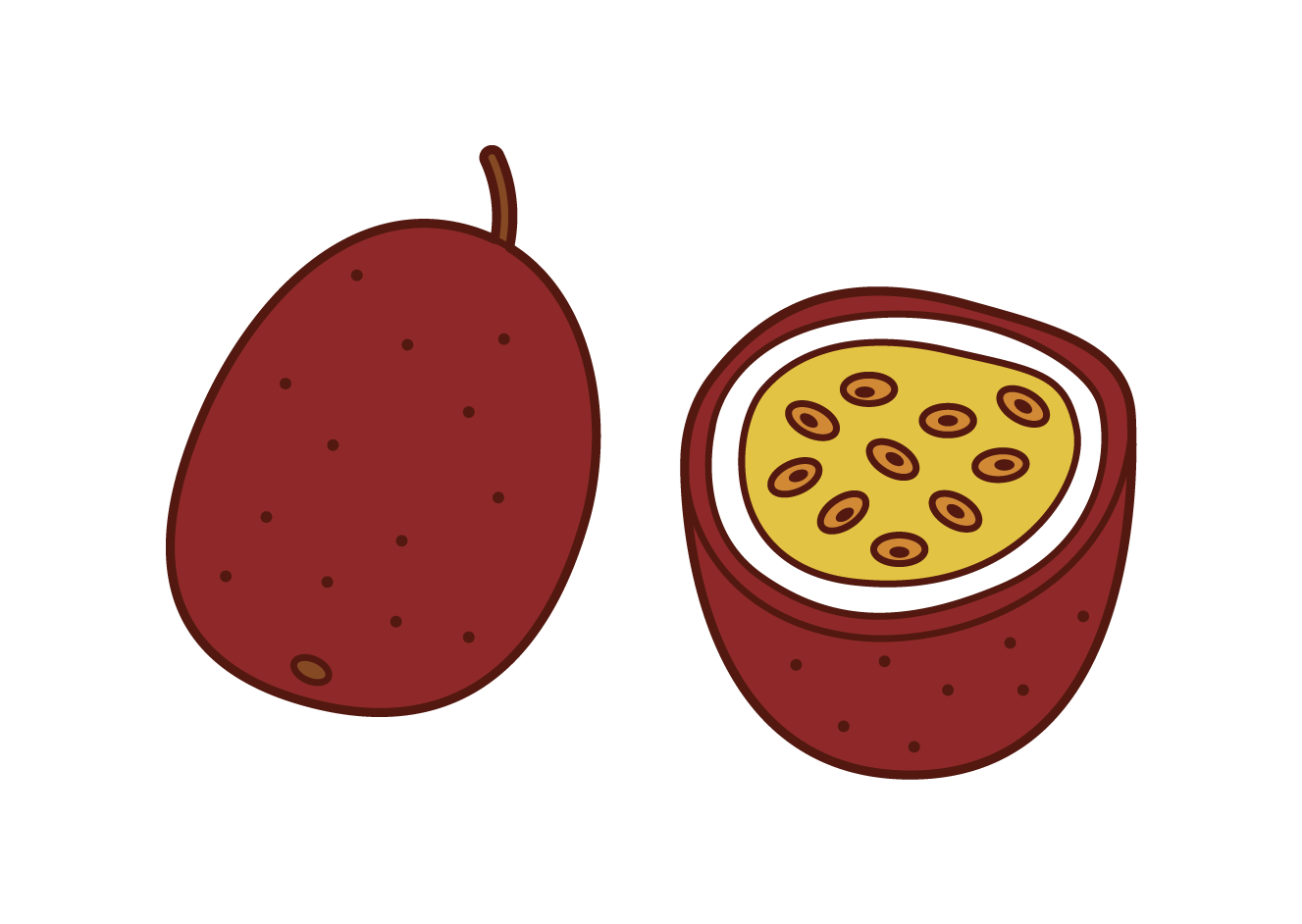 Passion Fruit Illustrations