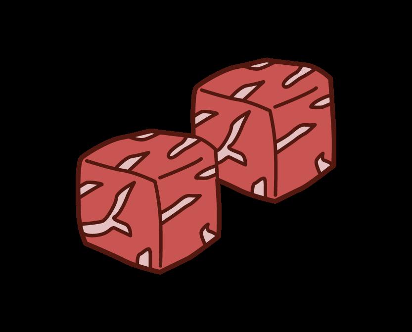 牛肉のイラスト