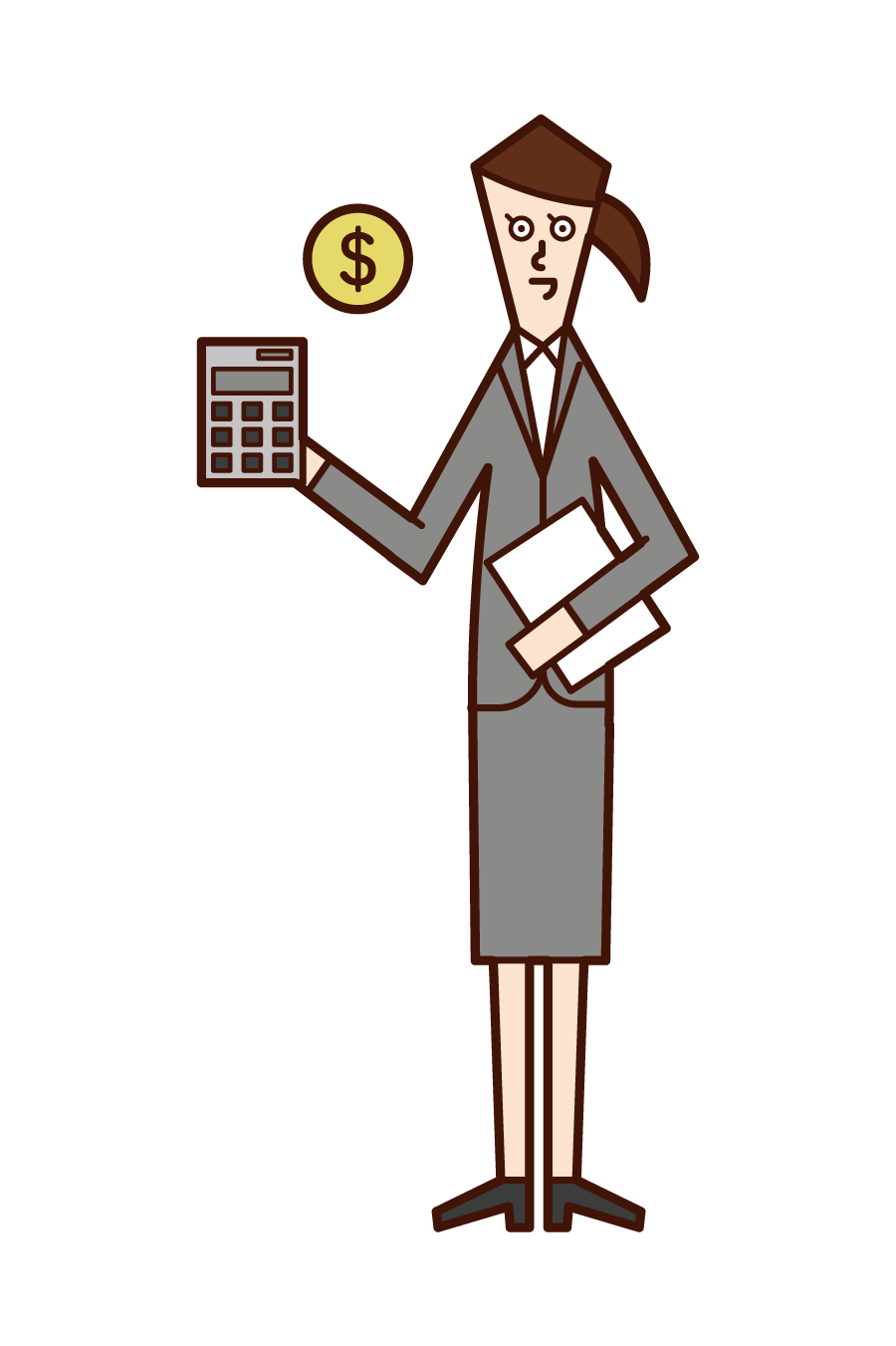 Illustration of certified public accountant s and tax accountant (woman)