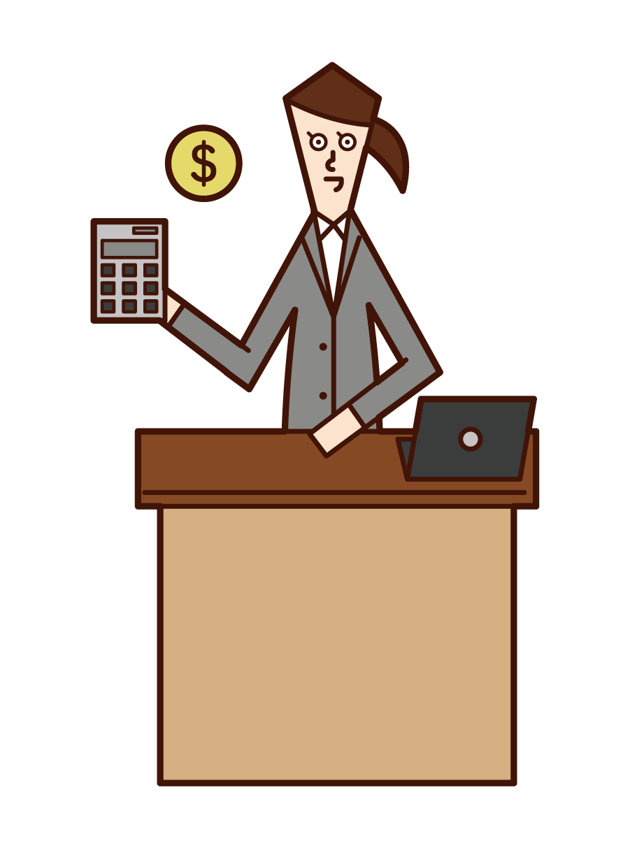 Illustration of accounting (woman)
