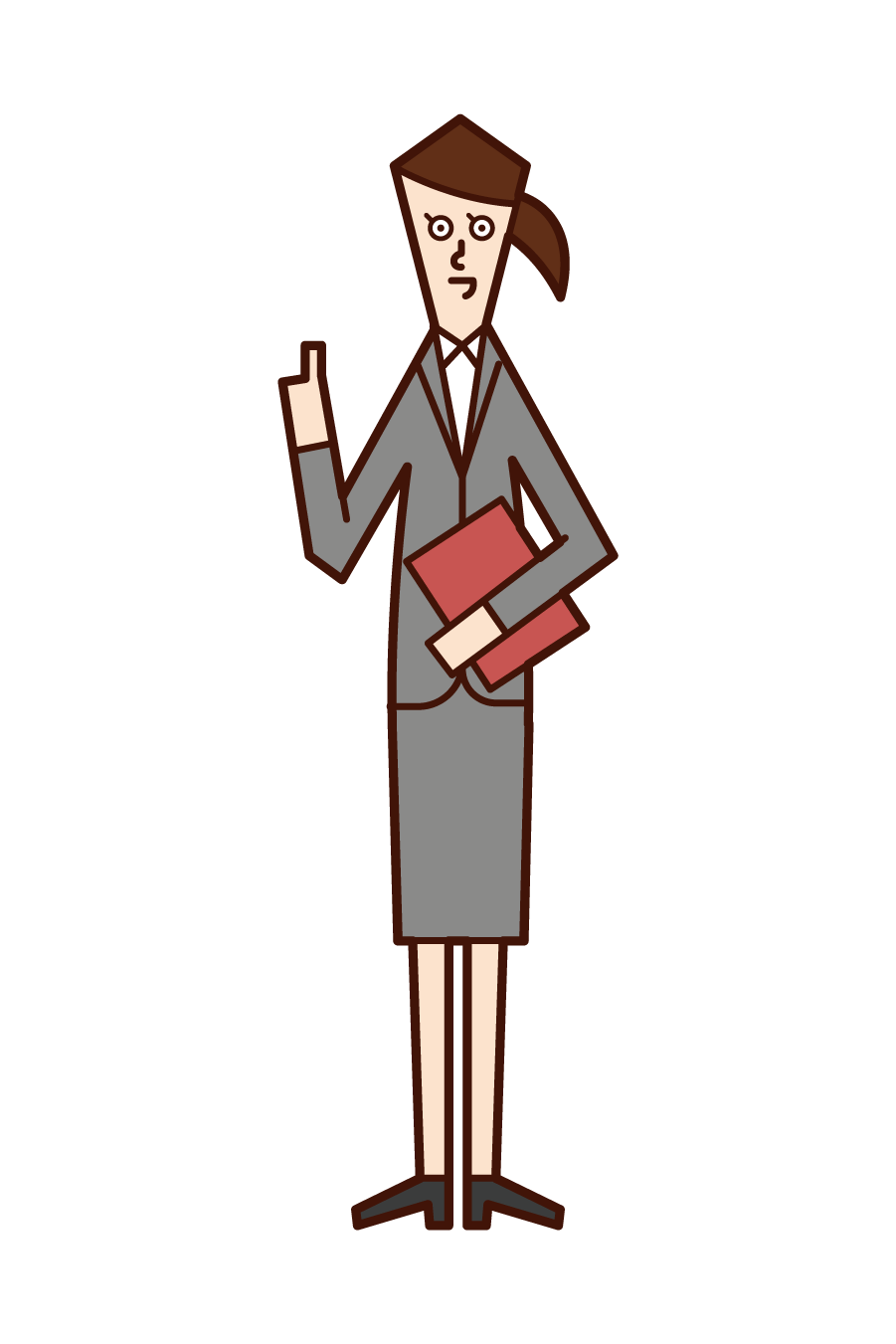 Illustration of sales and sales woman (woman)