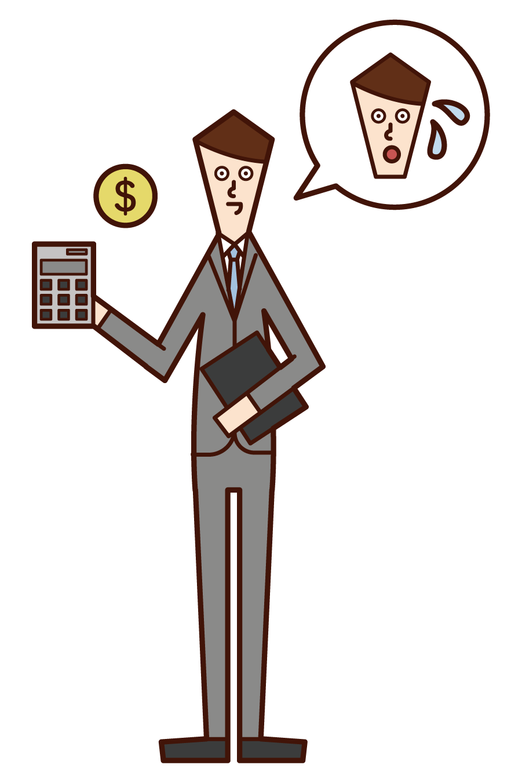 税務署の職員(男性)のイラスト