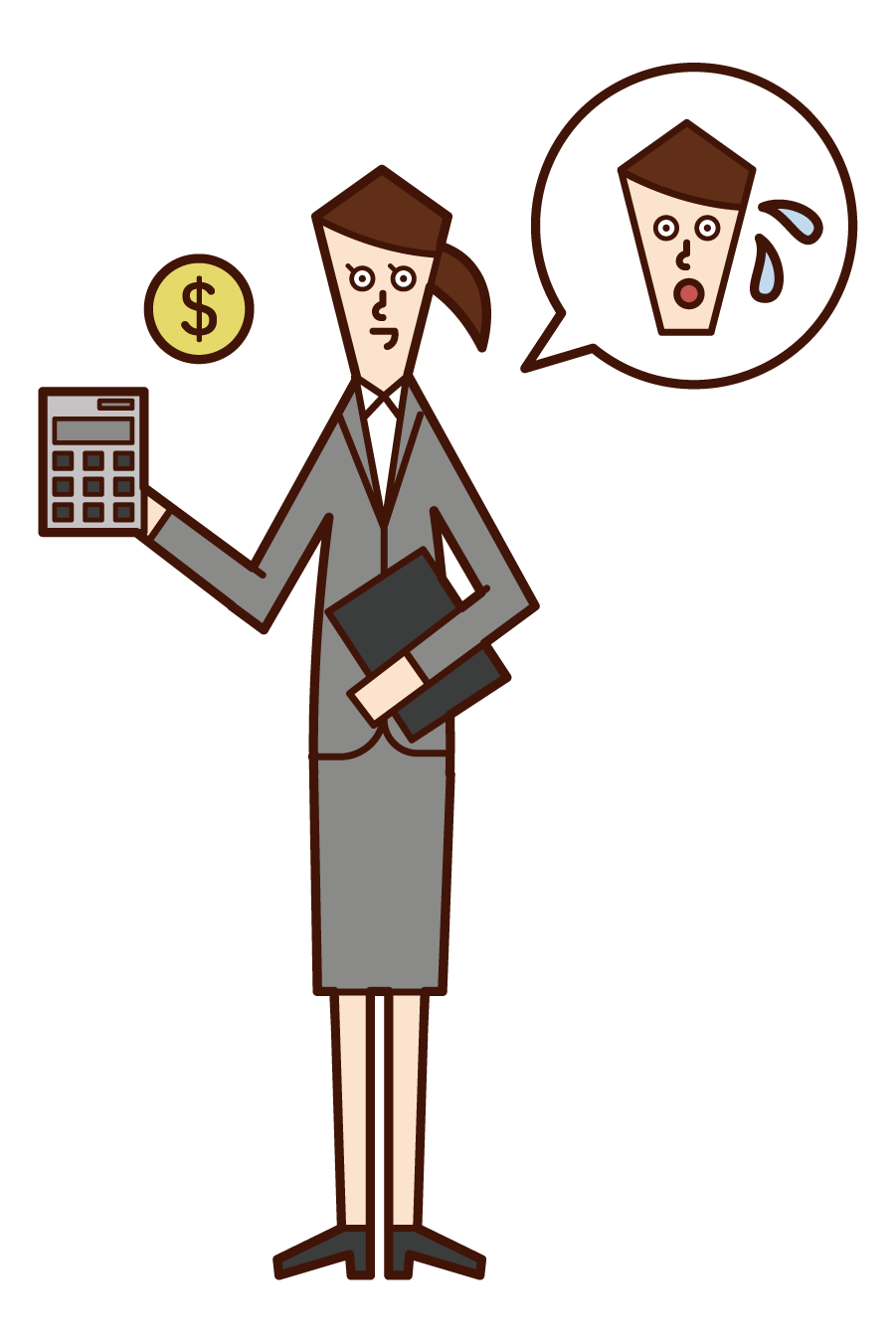 Illustration of a tax office employee (woman)
