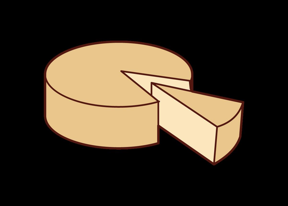 チーズのイラスト