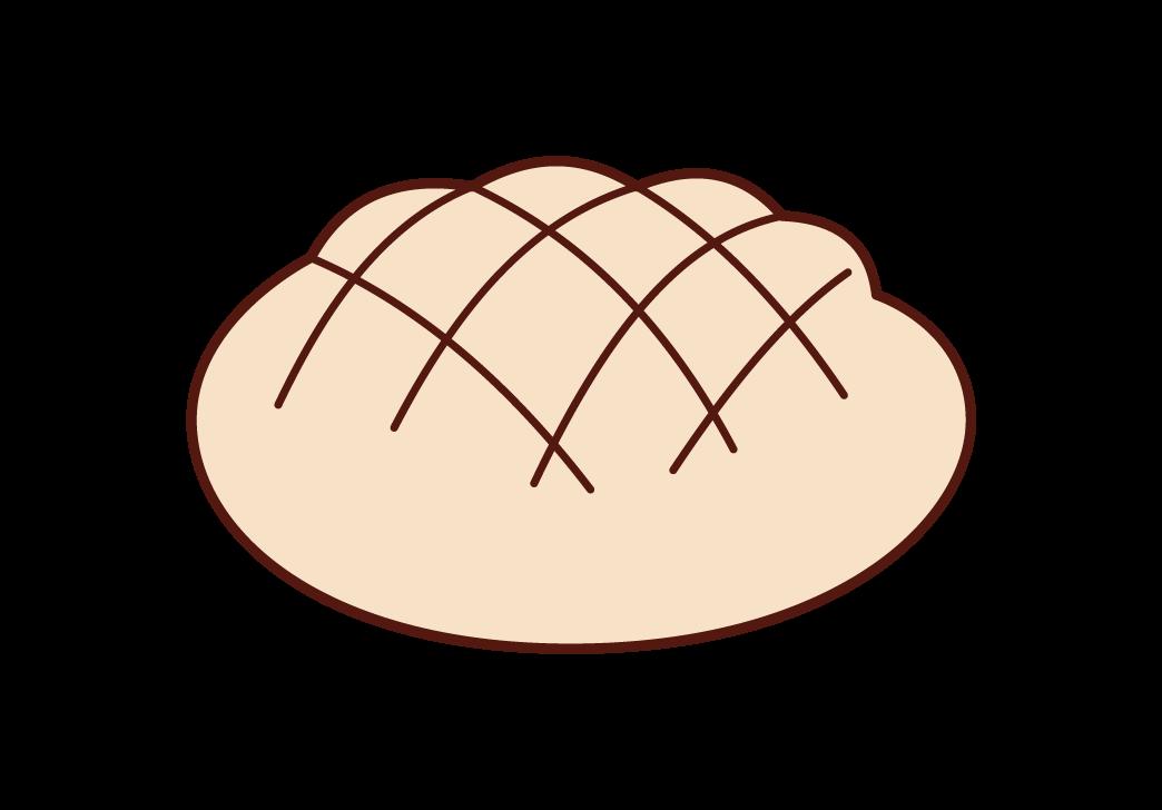 Illustration of melon bread