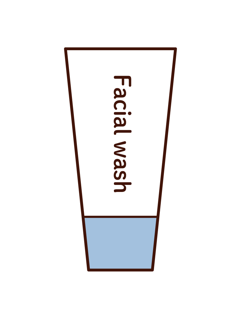 Illustration of facial cleanser