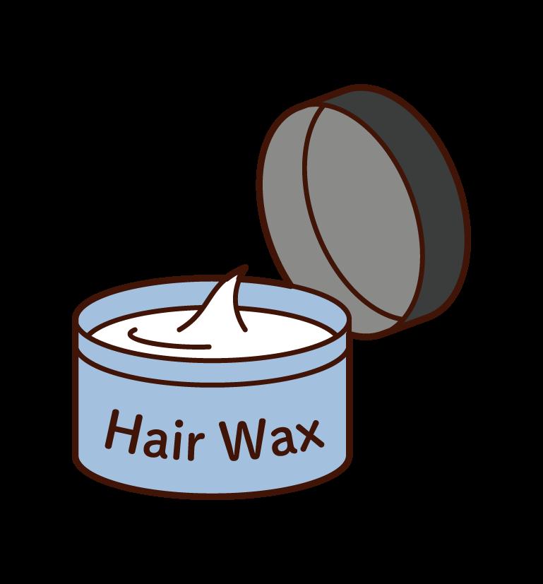 Hair wax and hair dressing illustration