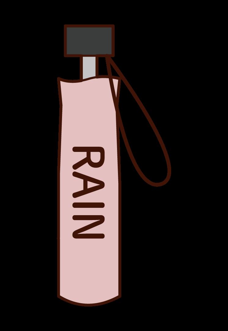折り畳み傘のイラスト