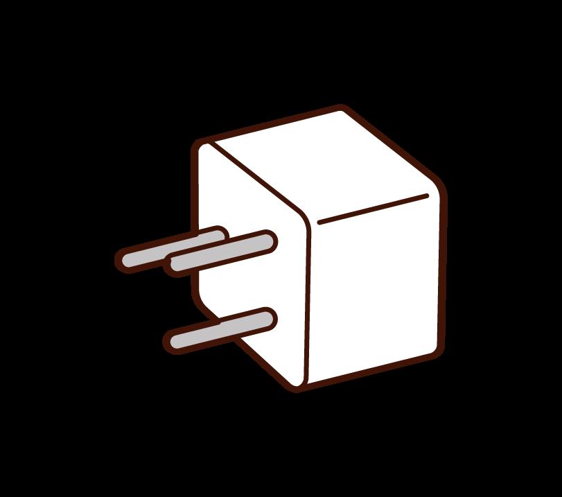 Illustration of the conversion plug