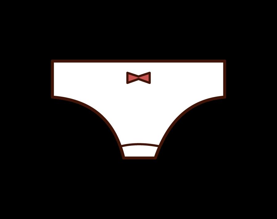 女性用のパンツ・下着のイラスト