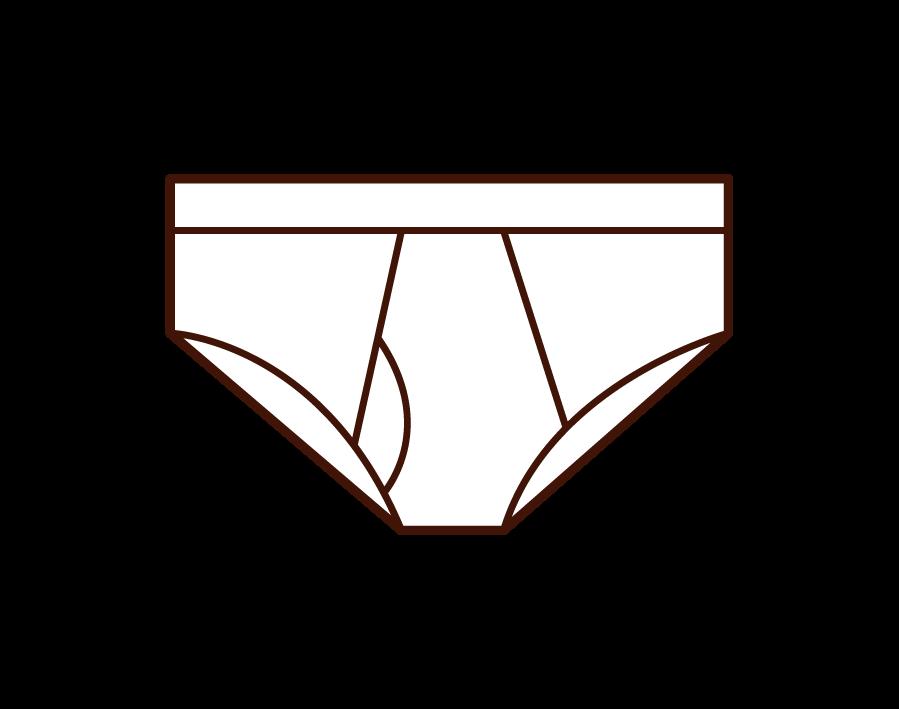 男性用の下着・ブリーフのイラスト