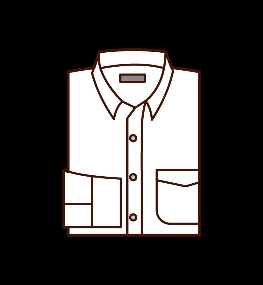 셔츠의 일러스트
