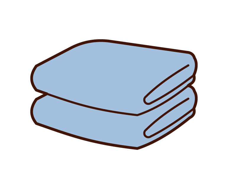 Illustration of towels
