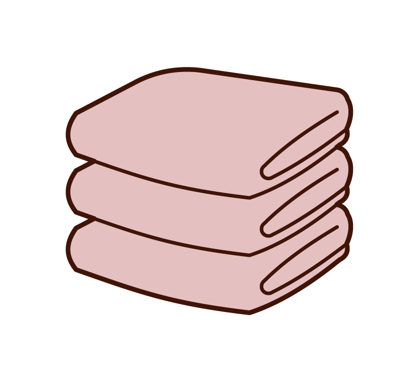 Illustration of towels