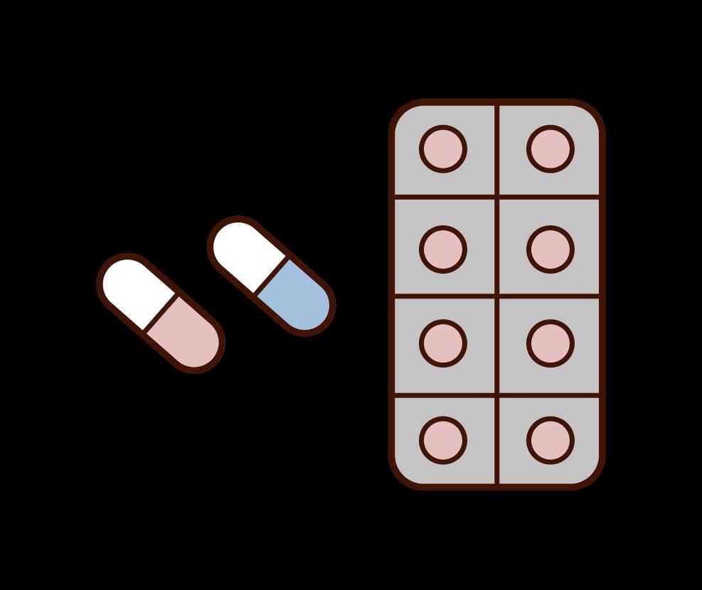 薬・処方薬のイラスト