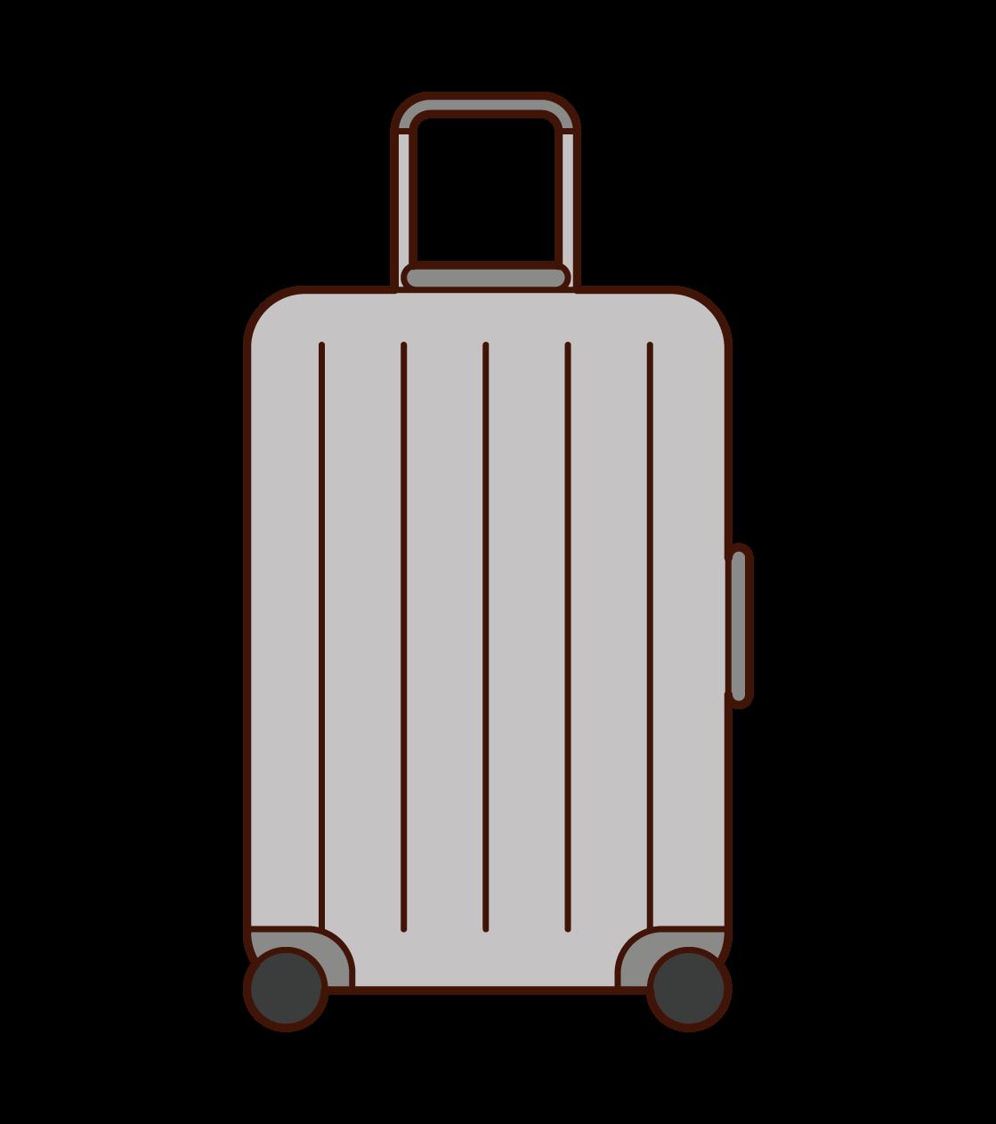 スーツケース・キャリーケースのイラスト