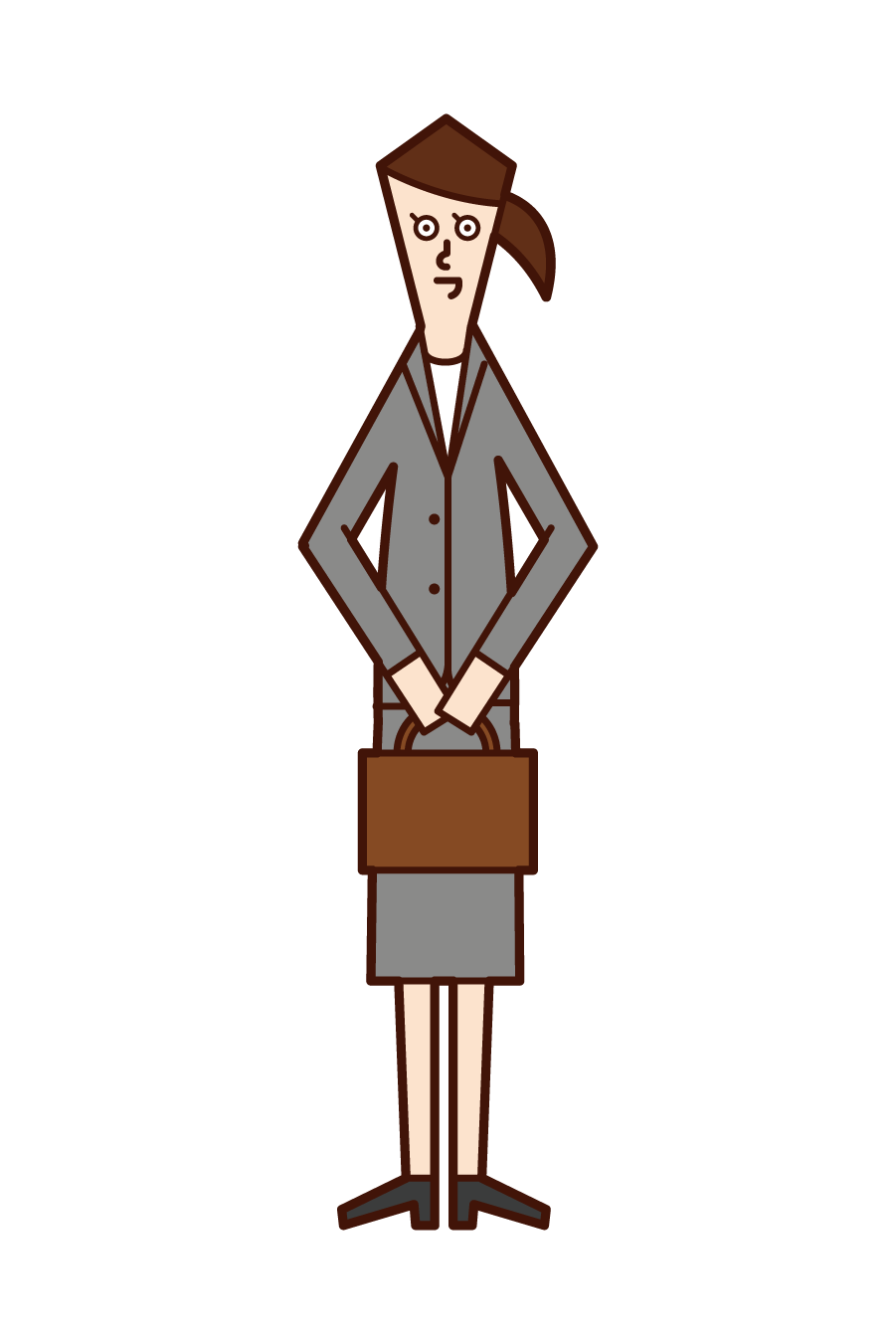Illustration of a company employee (woman)