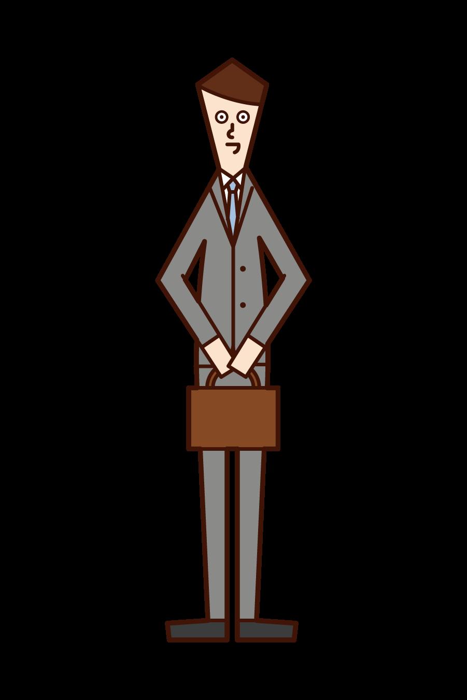 회사 직원(남성)의 일러스트