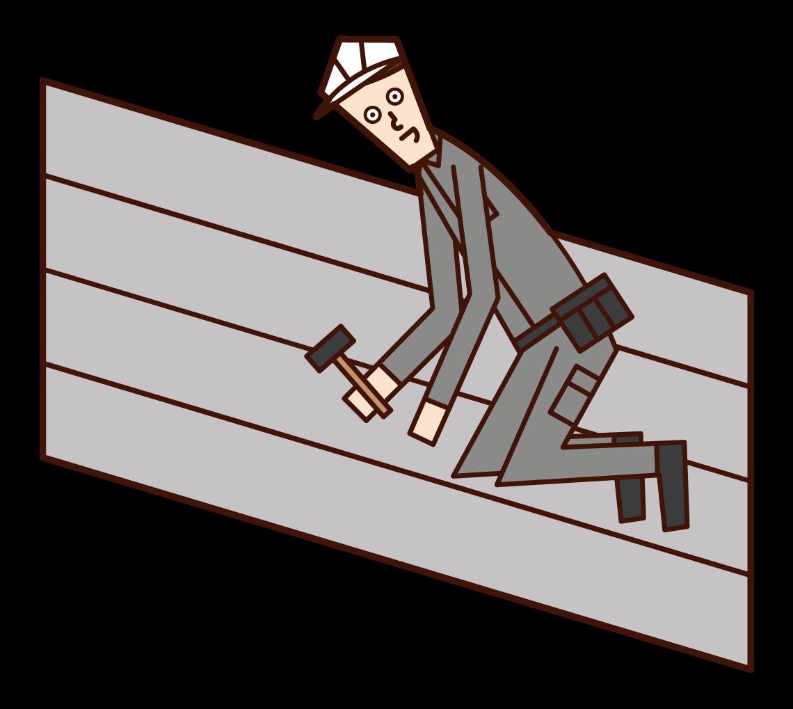 建築板金工(男性)のイラスト