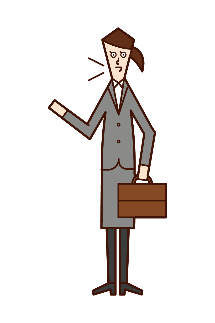 Illustration of a salesman (woman)