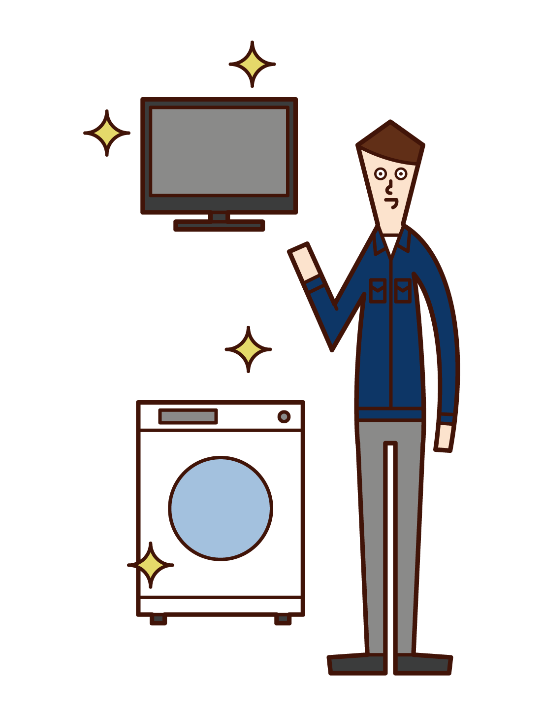 Illustration of an employee of a home appliance manufacturer (man)