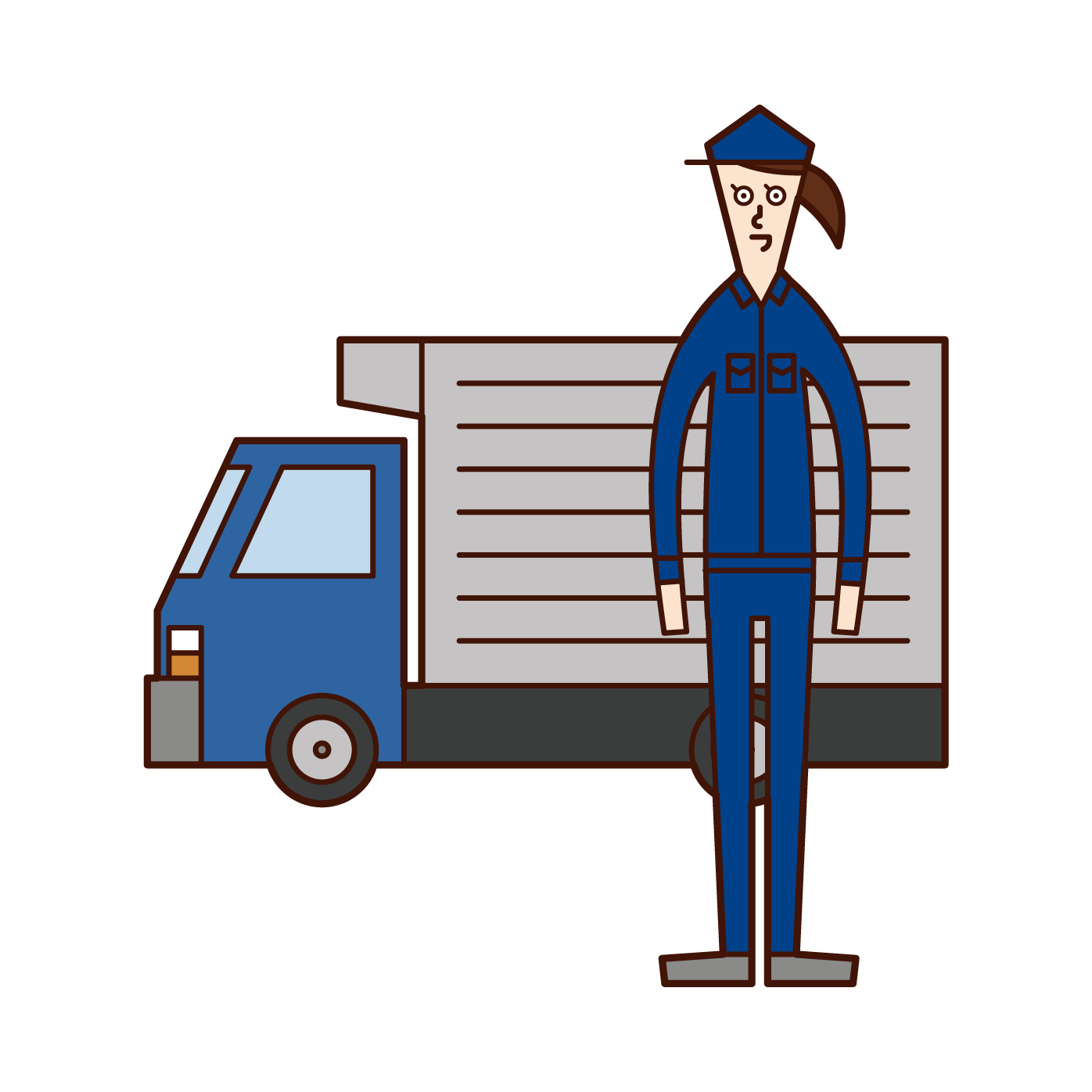 Truck Driver (woman) Illustration