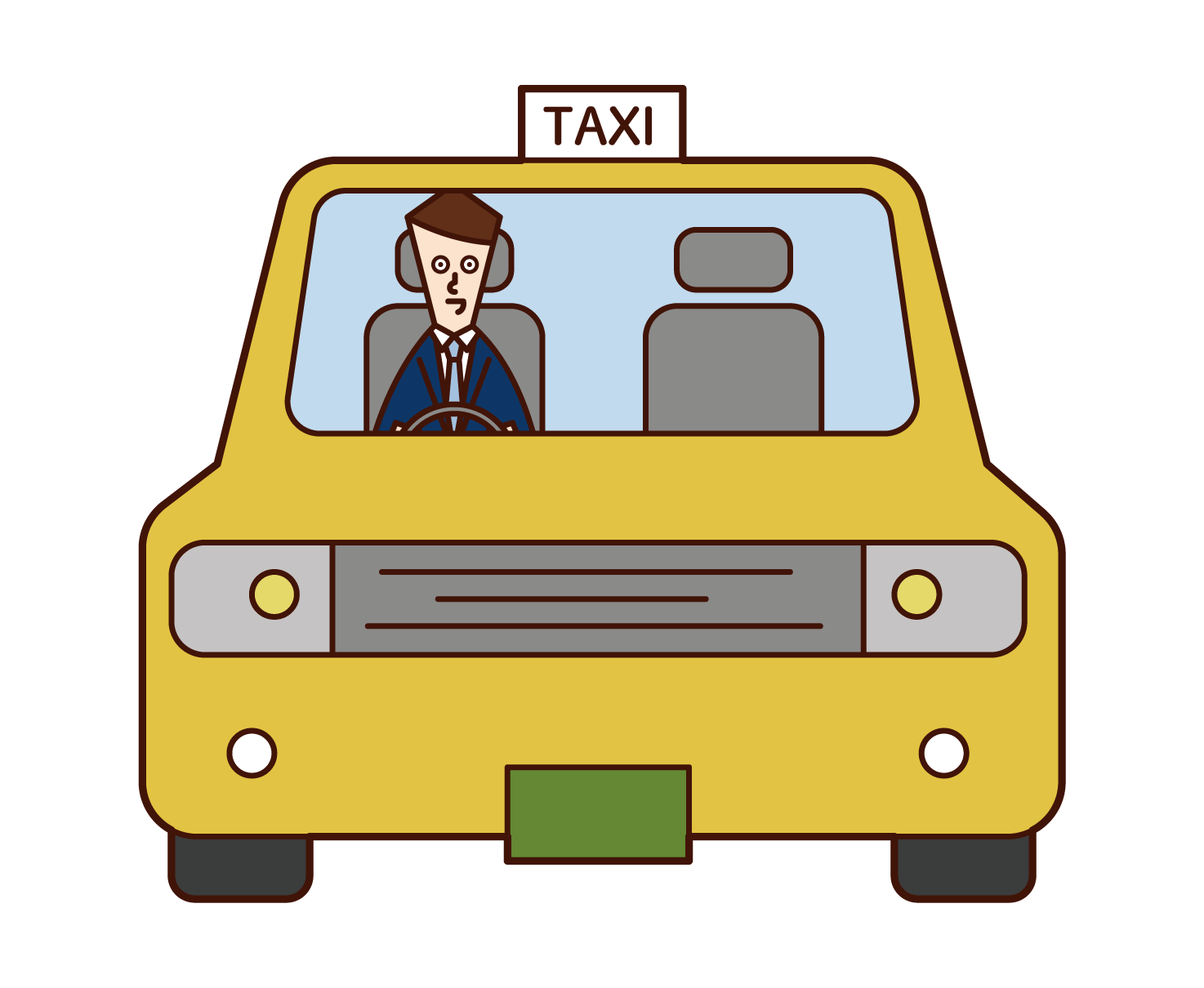 Illustration of a taxi driver (man)